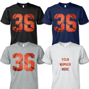 BASKETBALL - NUMBER (FRONT) - CUSTOMIZED SHIRT