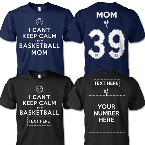 BASKETBALL - I CAN'T KEEP CALM - CUSTOMIZED SHIRT