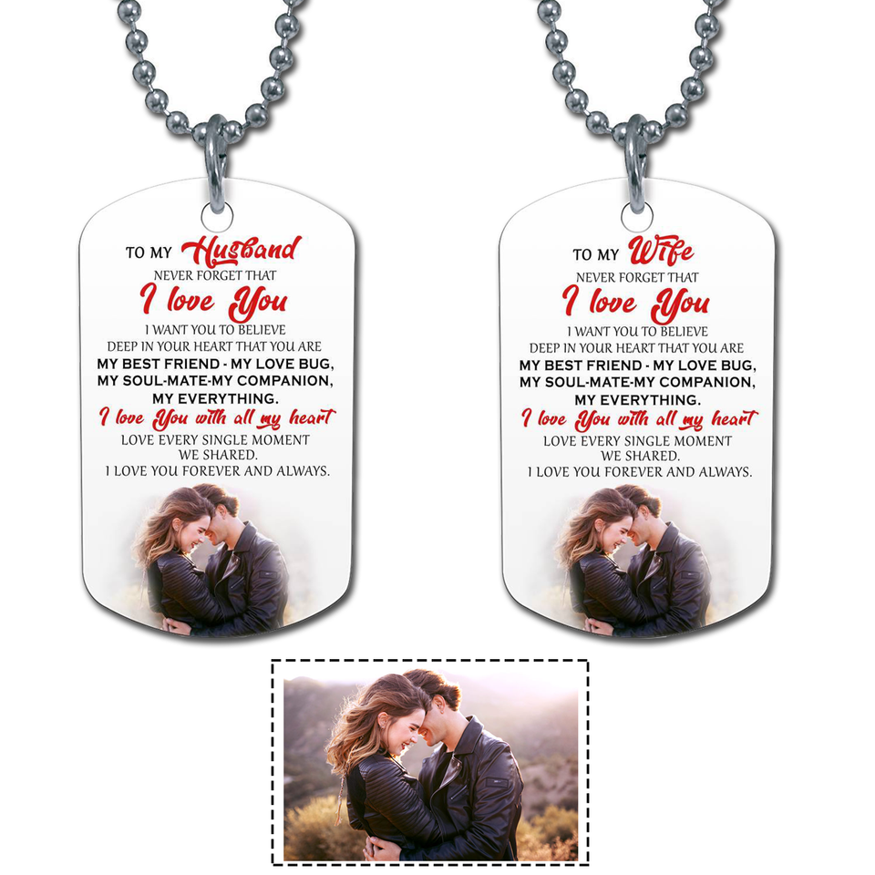 I LOVE YOU - MY WIFE - PERSONALIZED DOG TAG
