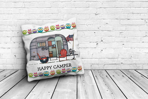 "HAPPY CAMPER PILLOWS - 16""x16"""