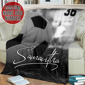 Black & White Soccer Custom Blanket - TH1712194NG