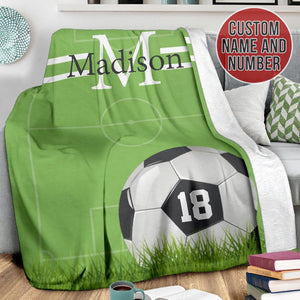 Custom Green Soccer Blanket - TH1612191HA