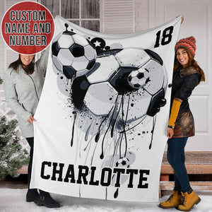 Soccer Drip Custom Blanket - TH0412194HA