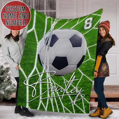 Soccer In Goal Custom Blanket - TH1112192HA