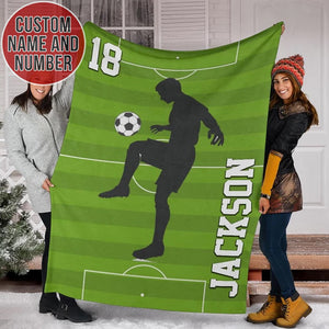 Custom Soccer Player Blanket - TH0912192NG