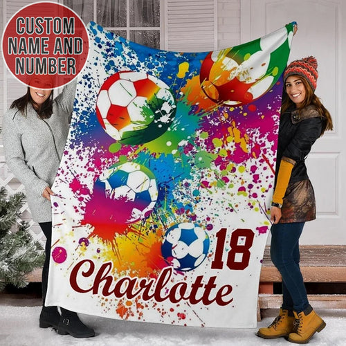 Soccer Color Custom Blanket - TH0412193NG