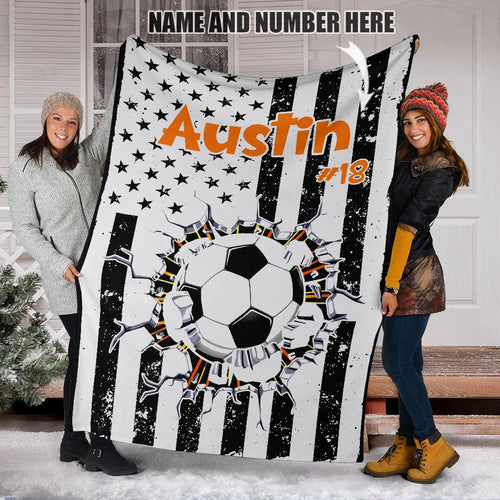 Custom Soccer Flag Blanket - LU2410193HO