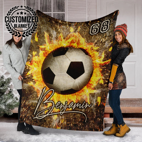 Fire Soccer Custom Blanket - MP16121905HA