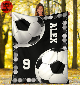 Soccer Ball Pattern Custom Blanket - VI1511192HO