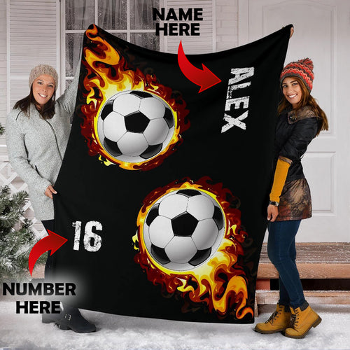 Soccer Fire Custom Blanket - VI0711194HO