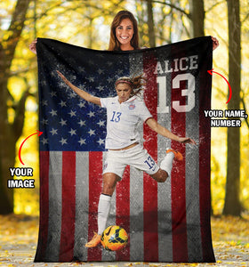 CUSTOM SOCCER FLAG BLANKET - NG0111191HO