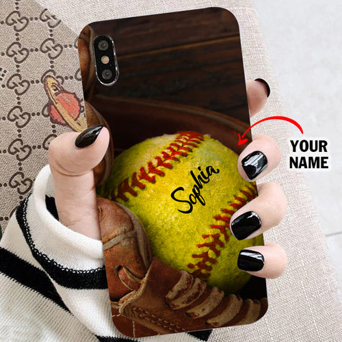 Custom Softball Glove Phone Case - NG0511193HO