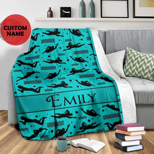 Swimming Name Custom Blanket - TD1311191TQ