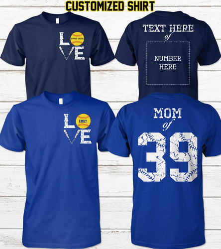 SOFTBALL FAMILY-CUSTOMIZED SHIRT