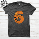 BASKETBALL - NUMBER IRON - CUSTOMIZED SHIRT