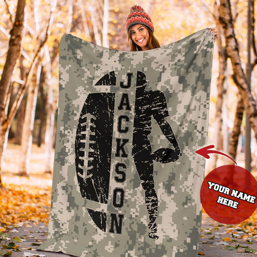 Custom Camo Football Player Premium Blanket - MI26091913HA