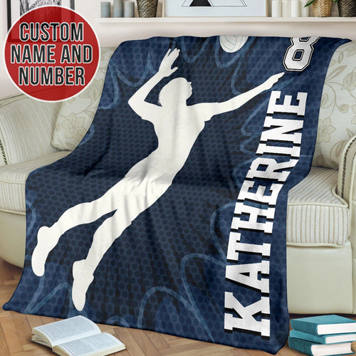 Volleyball Blue Custom Blanket - TH1812193HA