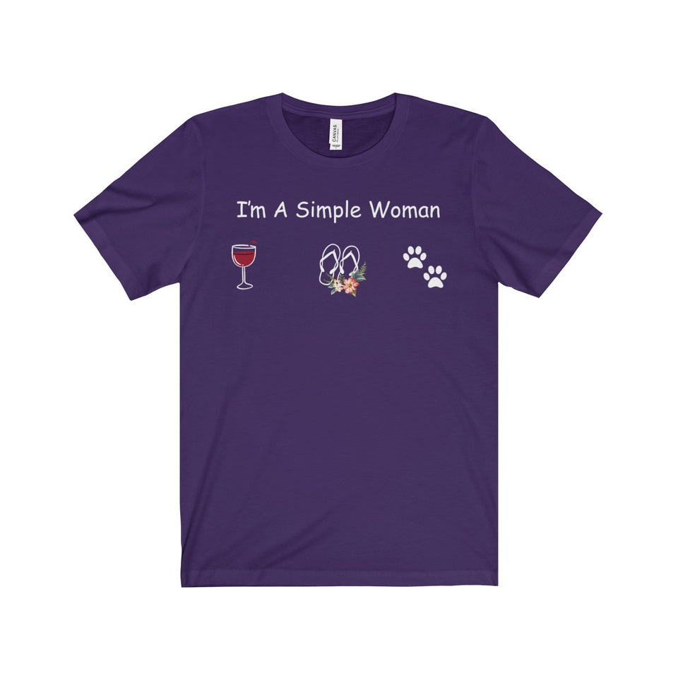 EU WINE SHIRT-I'M A SIMPLE WOMAN