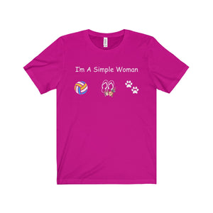 VOLLEYBALL SHIRT - I'M A SIMPLE WOMAN - LIMITED EDITION