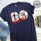 BASEBALL - GO - NAME & NUMBER - CUSTOMIZED SHIRT