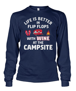 LIFE IS BETTER IN FLIP FLOPS WITH WINE-Special order!