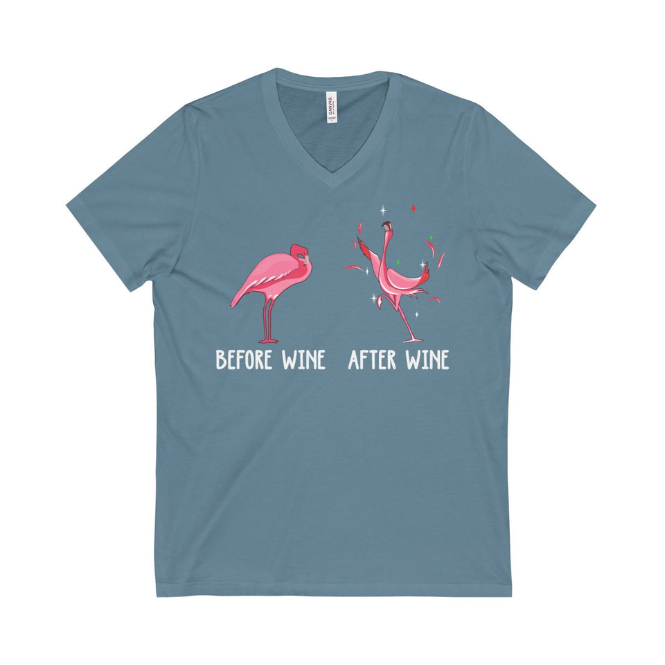 BEFORE WINE & AFTER WINE V-Neck Tee