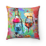 Wine Square Pillow - Limited Edition