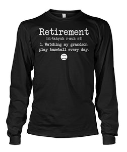 RETIREMENT PLAN BASEBALL SHIRT