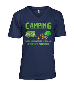 DRINKING BEER WHEN CAMPING