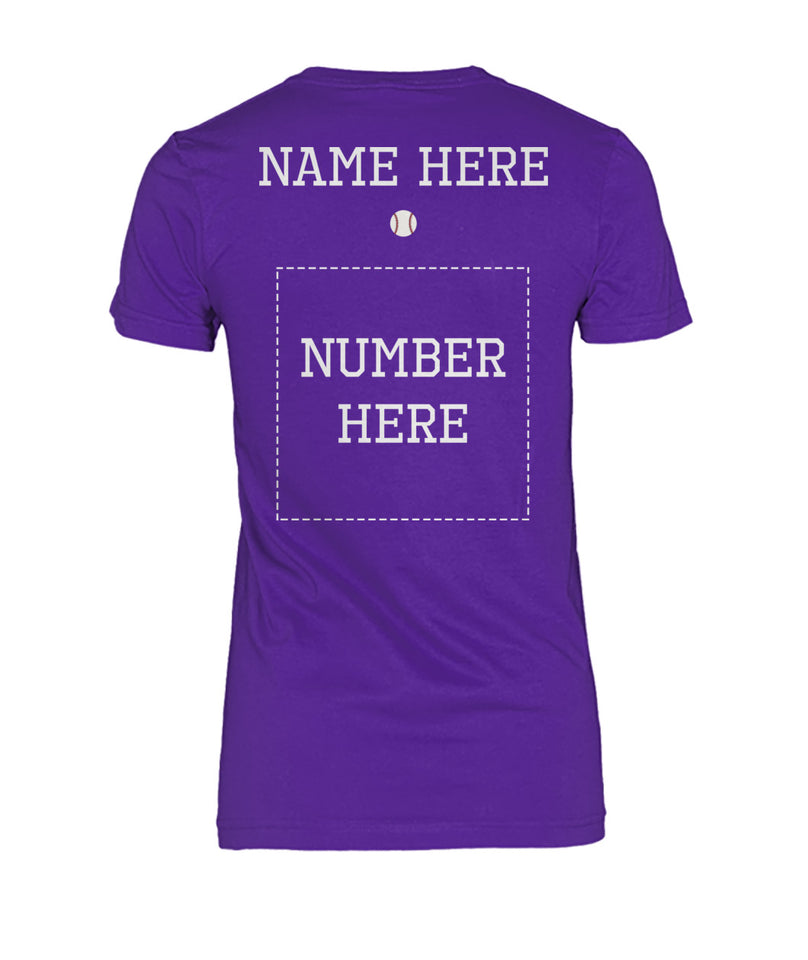 BASEBALL MOM SHIRT - NAME - NUMBER - LIMITED EDITION