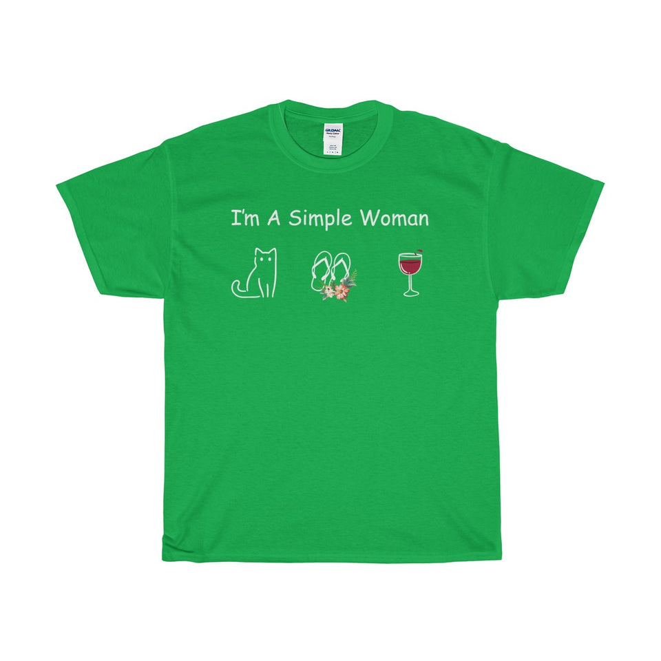 CAT SHIRT-I'M A SIMPLE WOMAN
