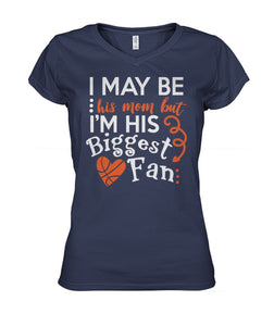 BASKETBALL - HIS MOM - HIS BIGGEST FAN - CUSTOMIZED SHIRT