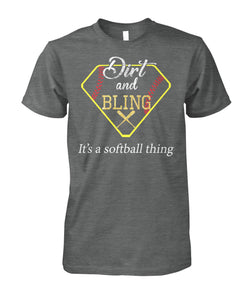 SOFTBALL- DIRT AND BLING