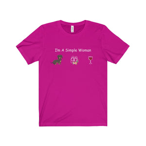 DACHSHUND SHIRT - I'M A SIMPLE WOMAN - LIMITED EDITION