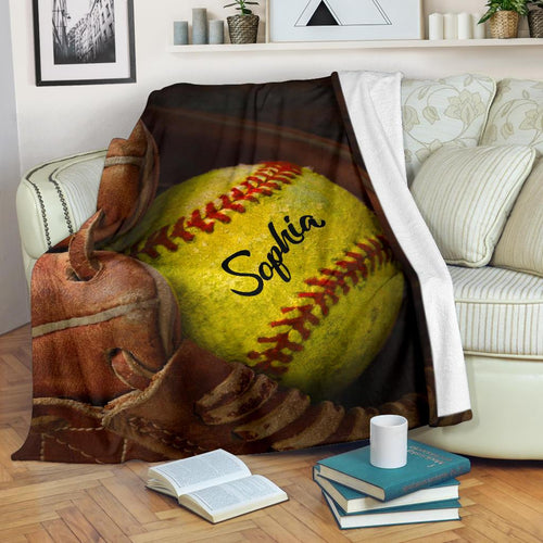 Softball Glove Custom Blanket - NG0311191TQ