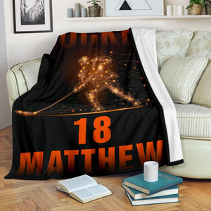 Hockey Light Dots Custom Blanket - TH0212193HA