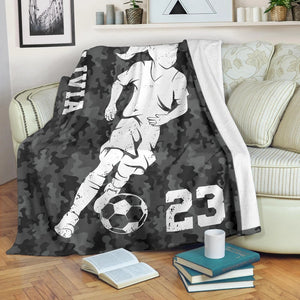 Soccer Player Camo Custom Blanket - TD2709192TQ