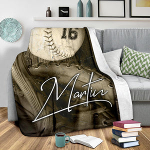 Old Baseball Photo Custom Blanket - MP18121902HA