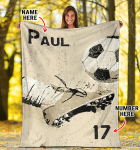 Soccer Kick The Ball Custom Blanket - LU0811196HO