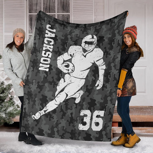 Football Player Camo Custom Blanket - TD2609192HO