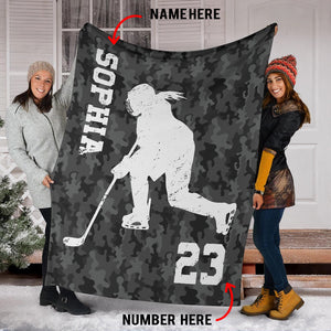 Hockey Girl Custom Blanket - TD0511191HO