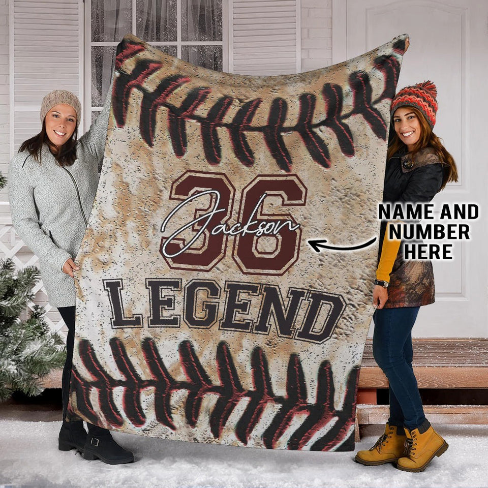 Baseball Laces Legend Custom Blanket - TD0811191HO