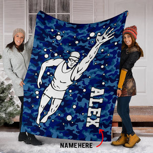 Swimmer Camo Custom Blanket - TD2909192HO