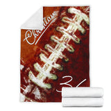 Watercolor Football Laces Custom Premium Blanket - MI0811197HA