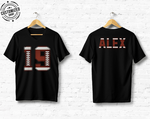 FOOTBALL - NAME & NUMBER - CUSTOMIZED SHIRT (D)
