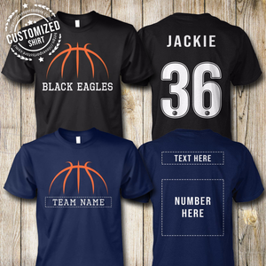 BASKETBALL - TEAM NAME - NAME - NUMBER - CUSTOMIZED SHIRT