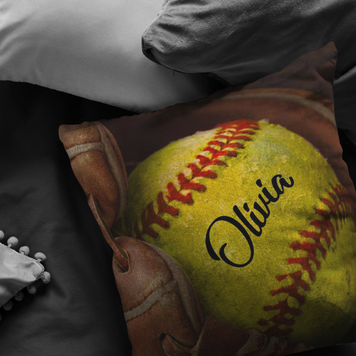 Softball Glove Custom Pillow - NG0811192TQ