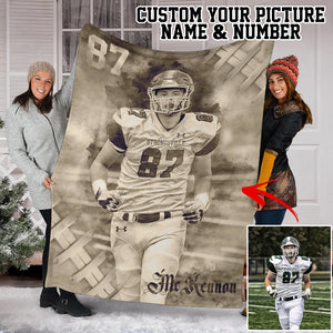 Custom Warrior Football Blanket -  SO3009192NG