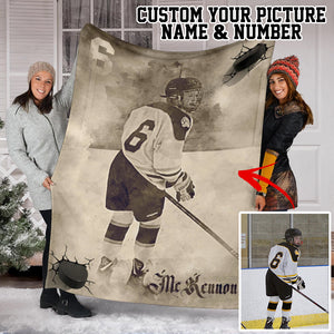 Custom Hockey Warrior Premium Blanket - SO0210192HA