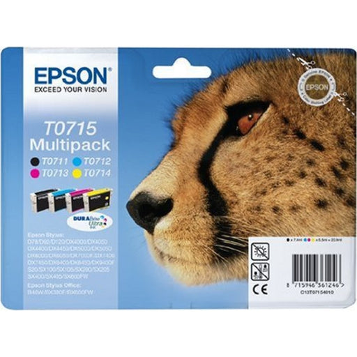Epson Original T0715 MultiPack Black, Cyan, Magenta, Yellow